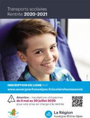 Flyer pour les inscriptions aux transports scolaires 2020-2021, page 1