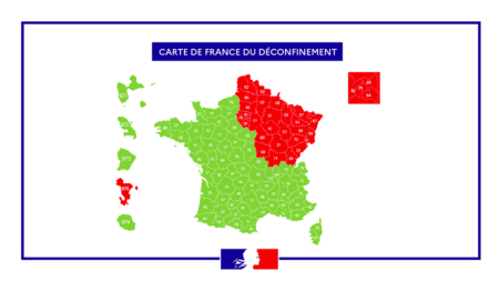 Carte de déconfinement