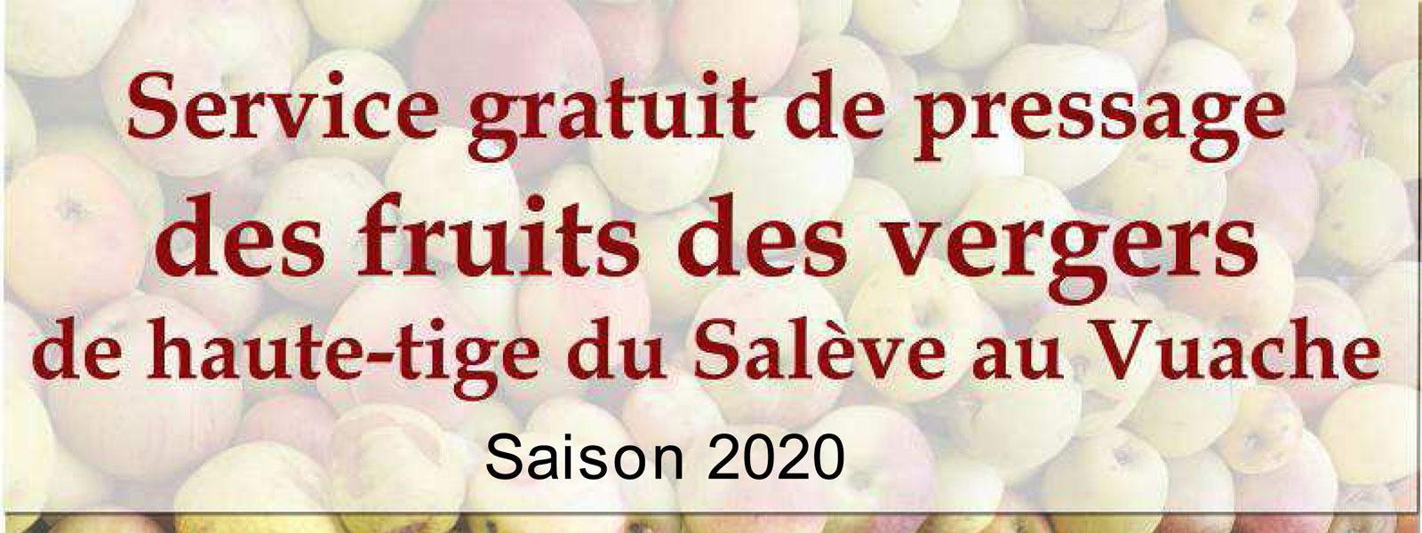 Service gratuit de pressage de vos fruits