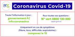 Info coronavirus par l'ARS