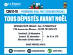 Campagne de dépistage à Cruseilles les 18, 19 et 20 décembre 2020