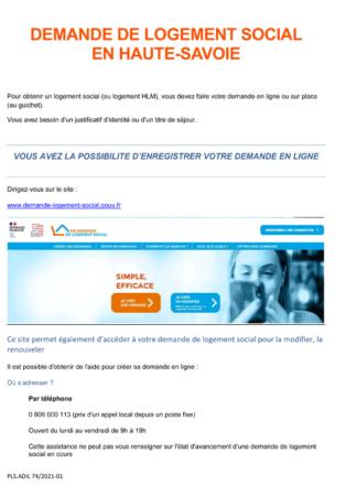 Demande de logement social en Haute-Savoie (format PDF, 353 Ko).