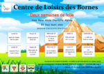 Programme des vacances d'avril 2021 du Centre de Loisirs des Bornes.