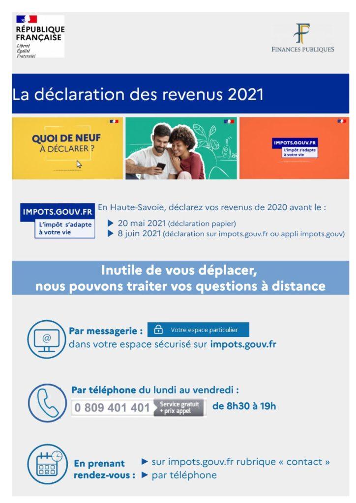 Déclaration de revenus 2021