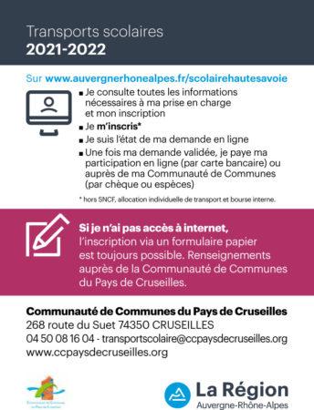 Flyer sur l'inscription aux transports scolaires 2021-2022 - Page 2