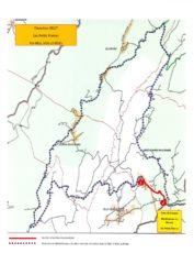 Plan de déviation durant la fermeture de la RD 27 pendant trois jours dans la période du 3 au 12 mai 2021.