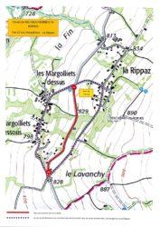 Plan de déviation durant la fermeture de la RD 3 pendant deux jours dans la période du 3 au 12 mai 2021.