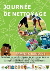 Journé de nettoyage le 5 juin 2021