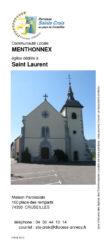 Paroisse Saint Croix : Flyer sur Menthonnex-en-Bornes