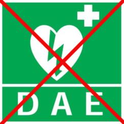 Défibrillateur indisponible