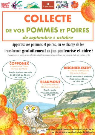 Affiche collecte de vos pommes et poires